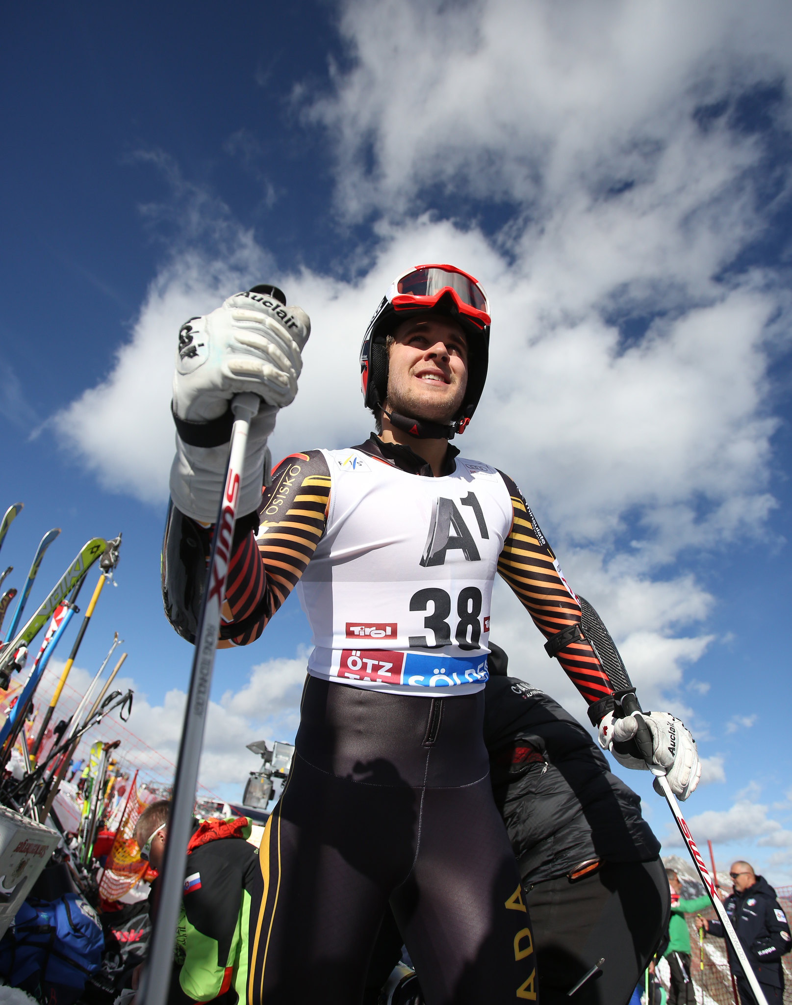 Philip Brown prepares for the first race of the season in Soelden, AUT.