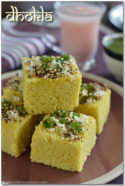 Dhokla recipe gujarati khaman dhokla sharmis passions dhokla recipe forumfinder Image collections