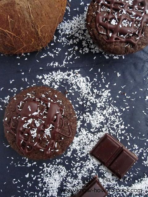 Оризови кексчета с рожков и кокос (веган, без глутен)