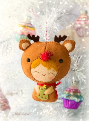 Bebe reno en Navidad
