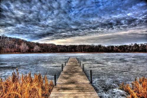 winter lake 3 cold ice water minnesota canon eos cloudy mark iii dreary lone 5d mn hdr minnetonka landcape photomatix tonemapped