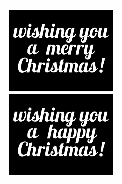 Merry Happy Christmas - free SVG cut file mel stampz
