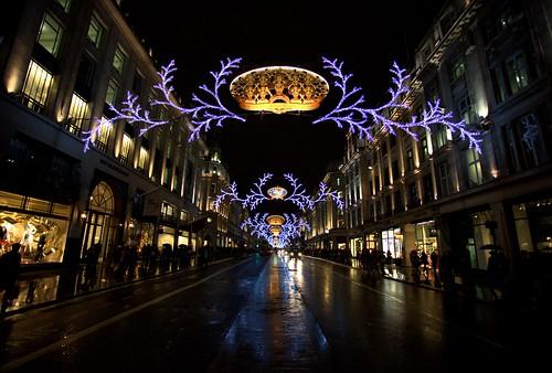 רחובות לונדון בכריסמס דיי