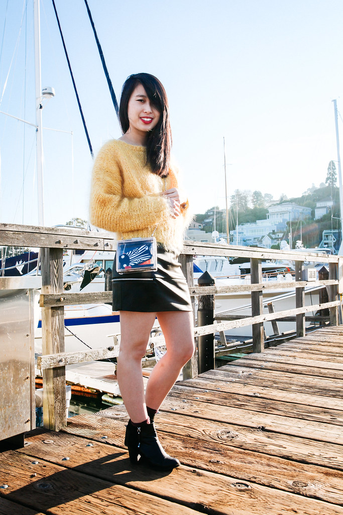 san francisco style blog, sausalito, H&M premium sweater, mohair sweater, readytwowear