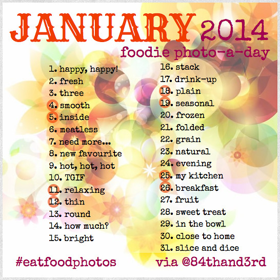 2014 January Food Photo Challenge