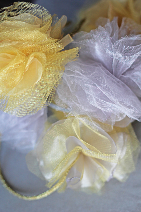 tulle & organza flower headbands