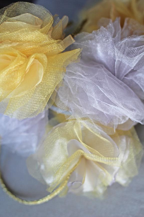 tulle & organza flower headbands