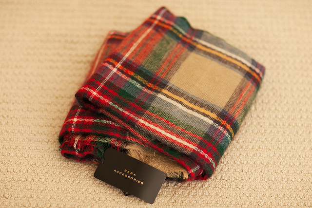 cute & little blog | zara tartan scarf giveaway