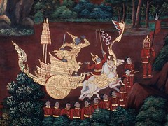 Mural inside the Royal Palace Compound, Thailand