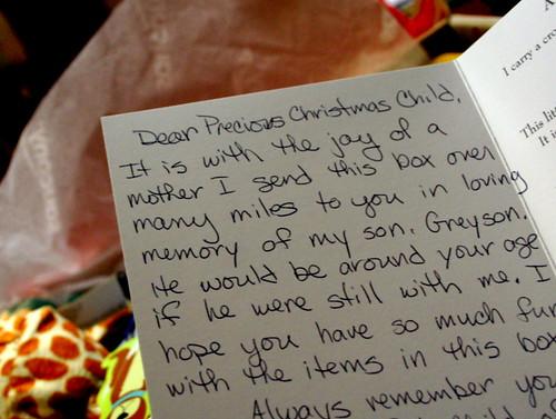 114/365 - Christmas Child Letter