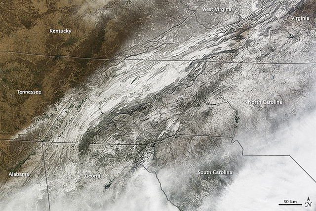 Photo:Snow and Ice in the Southeastern United States By NASA Goddard Photo and Video