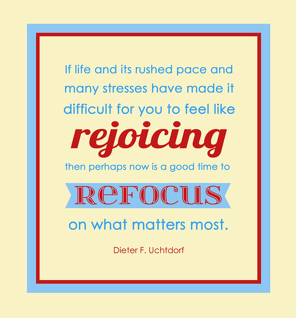 Refocus on What Matters Most