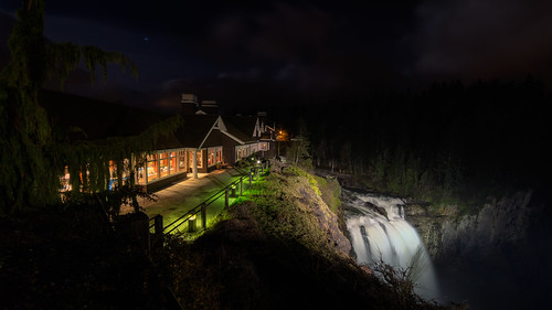 salishlodge snoqualmiefalls longexposure waterfall night pacificnorthwest canon 169 wideangle flow canoneos5dmarkiii samyang14mmf28ifedmcaspherical johnwestrock washington