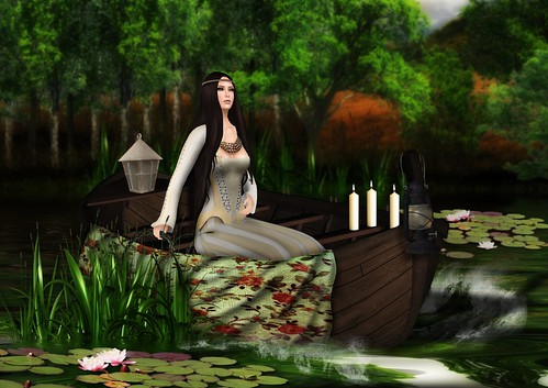 Inspired on John William Waterhouse -The lady of shalott - 1888 by Zipiღbusy