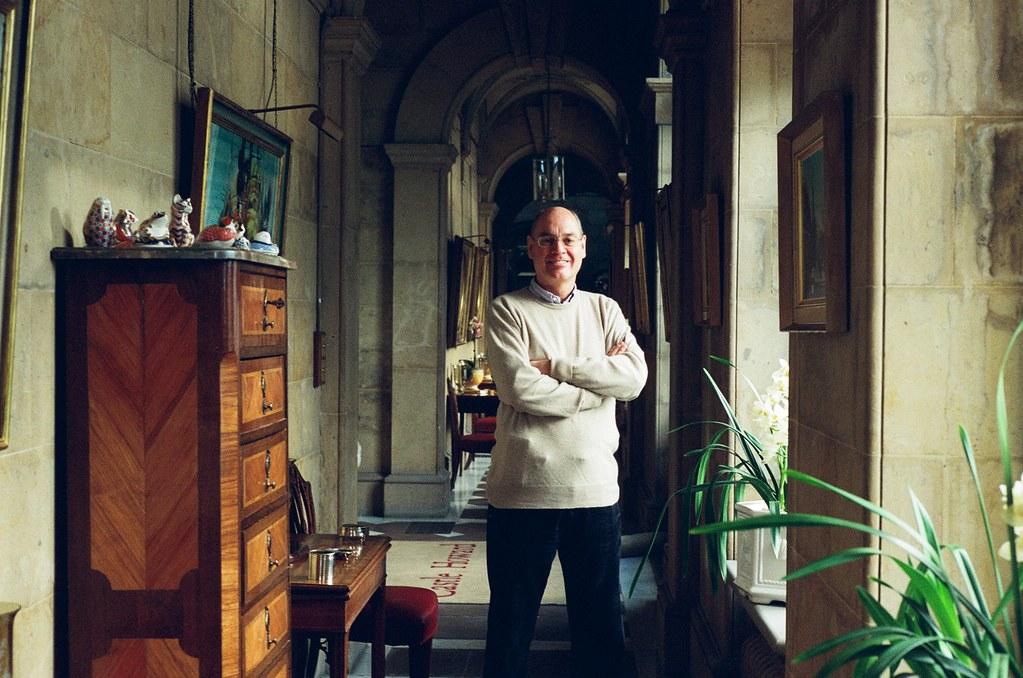 Simon Howard in the corridor