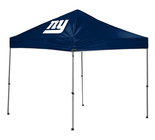 New York Giants TailGate Straight Leg Canopy, 9' x 9'