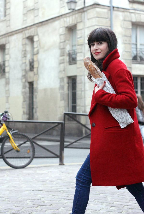 מעיל אדום, בלוג אופנה בפריז, בלוג אופנה