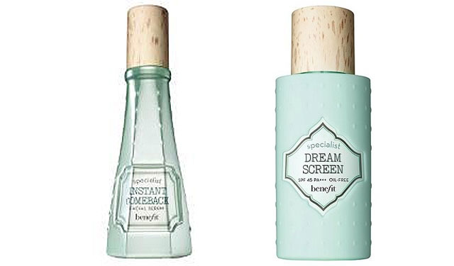 Benefit Instant Comeback Facial Serum and Dream Screen sunscreen