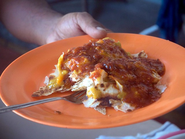 chappati, sardine sambal at Waterfall Cafe, Botanical Gardens Penang-011