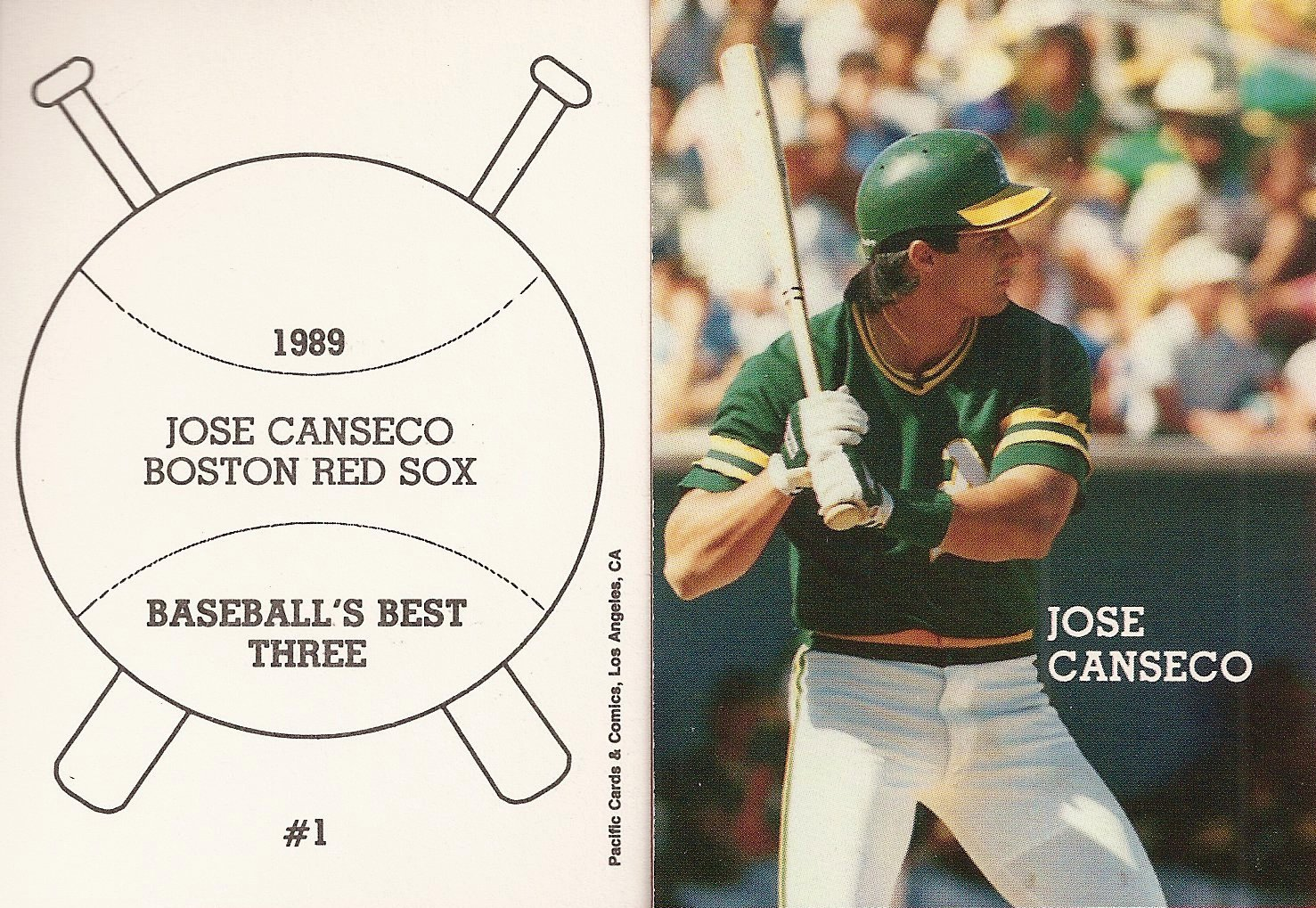 1989 Pacific Cards & Comics Baseballs Best Three