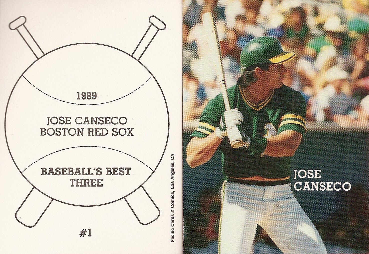 1989 Pacific Cards & Comics Baseballs Best Three