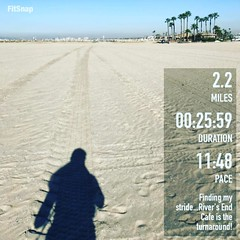 2.2 hard fought miles in the books today with @deeflo10 to River's End and back.  I like to find a nice packed tire mark to follow, makes it easier to get into a good rhythm with my stride.  Felt really good on this stretch and was trying to kick it up an