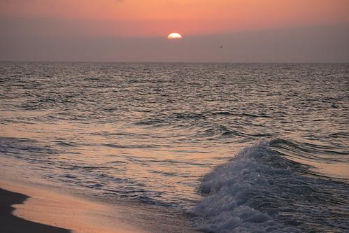 sun sunrise atlanticocean pensacola pensacolabeach pensacolafl water ocean waves orange olympus olympusomd omd em1markii 12100mmf4zuiko zuiko zd micro43