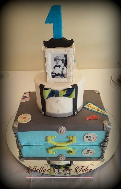 Little Man Theme Cake by Betty Fernandes of Betty's Cake Tales