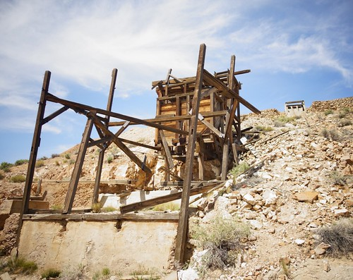 Old mine workings near the Eureka Gold Mine in Death Valley National Park, California