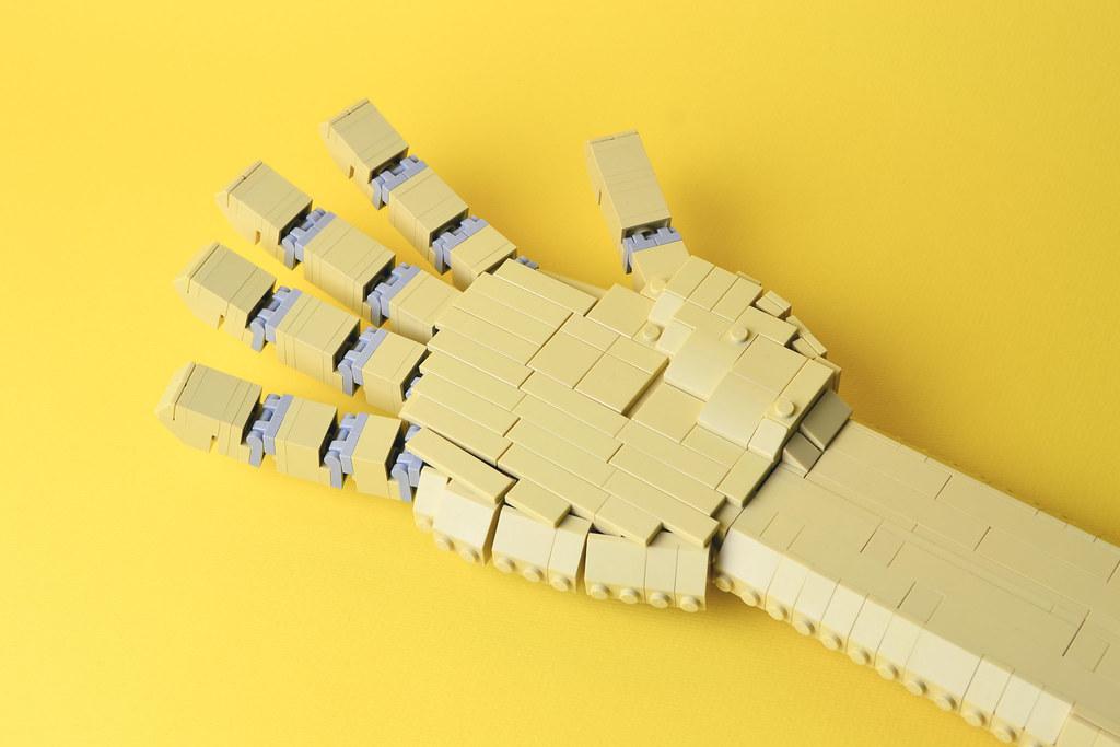 Hand (custom built Lego model)