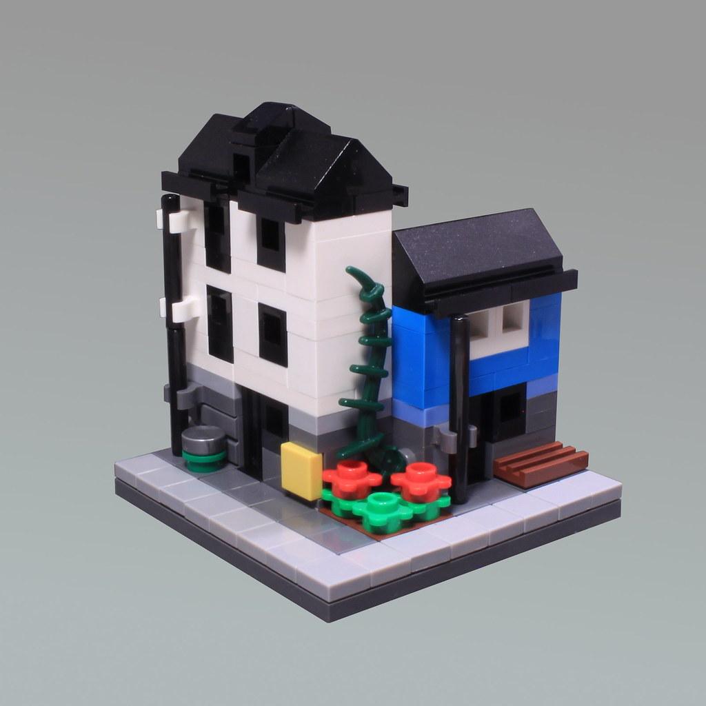 Mini Modular Corner Block (custom built Lego model)