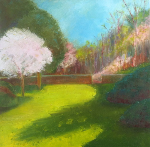 First of May at Long Hill (Oil Bar Painting) by randubnick