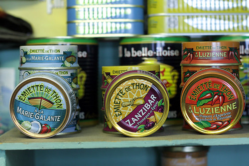French tuna tins