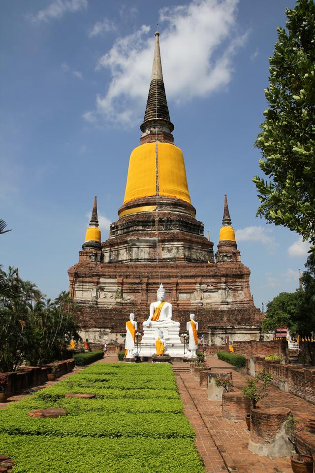 View of Wat Yai Chai Mongkon (วัดใหญ่่ชัยมงคล)