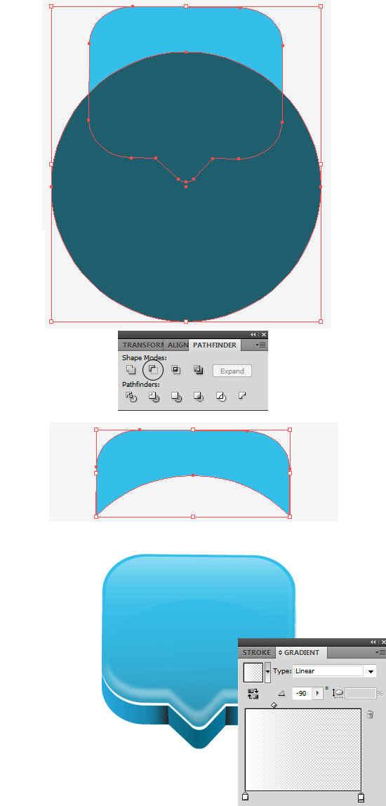 icono 3D hecho en illustrator