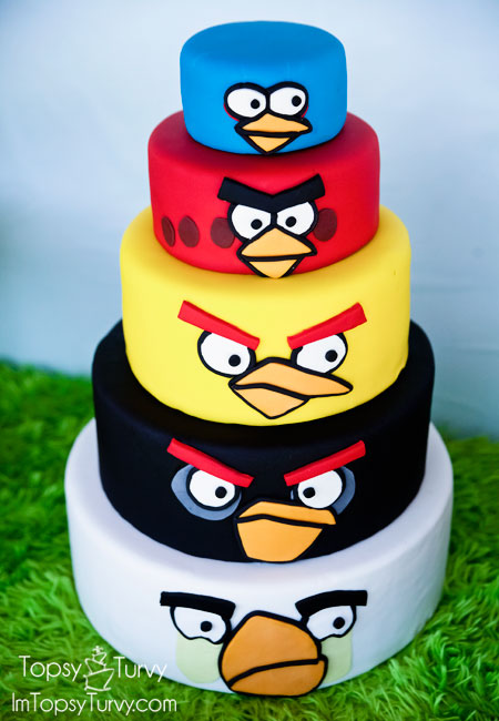 Angry Birds Birthday Cake Ashlee Marie real fun with real food