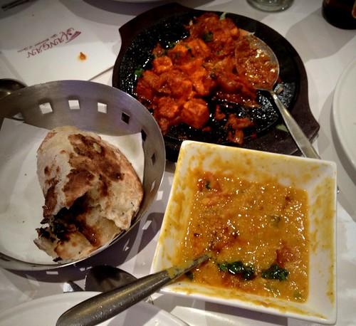 Paneer, dal and naan