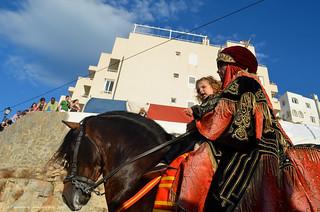 Mojacar /Moros y cristianos / Caballos Jinetes/Espectadores