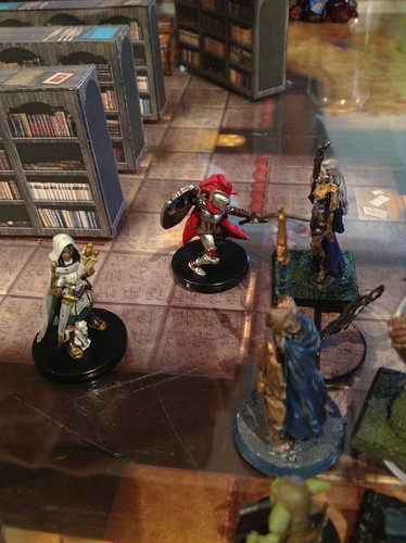 The anti-magic tiles at Asherton keep the rogue and elementalist outside