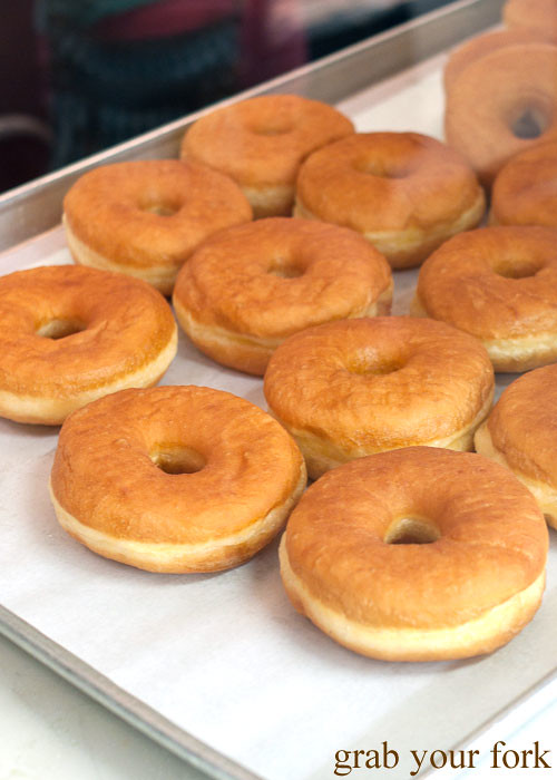 raised donuts at bobs coffee and doughnuts at la farmers market los angeles