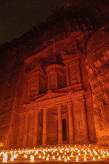 Al-Khazneh Treasury, Petra by Night, Jordan