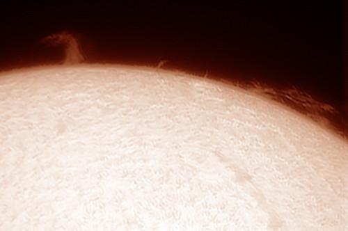 Protuberancias solares 25/07/2013