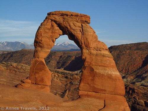 Delicate Arch about an hour before sunset, Arches National Park, Utah