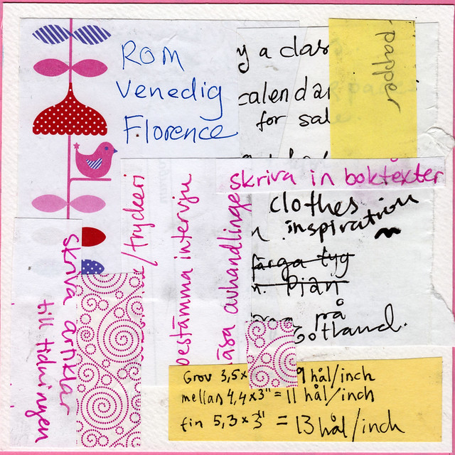 Collage: Taking Notes 5