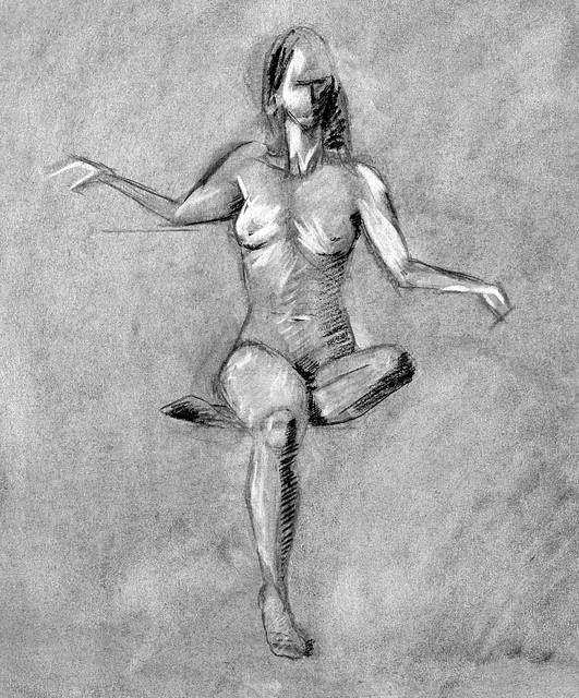 charcoal figure, 7/31/13