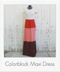 how to make a colorbock maxi dress