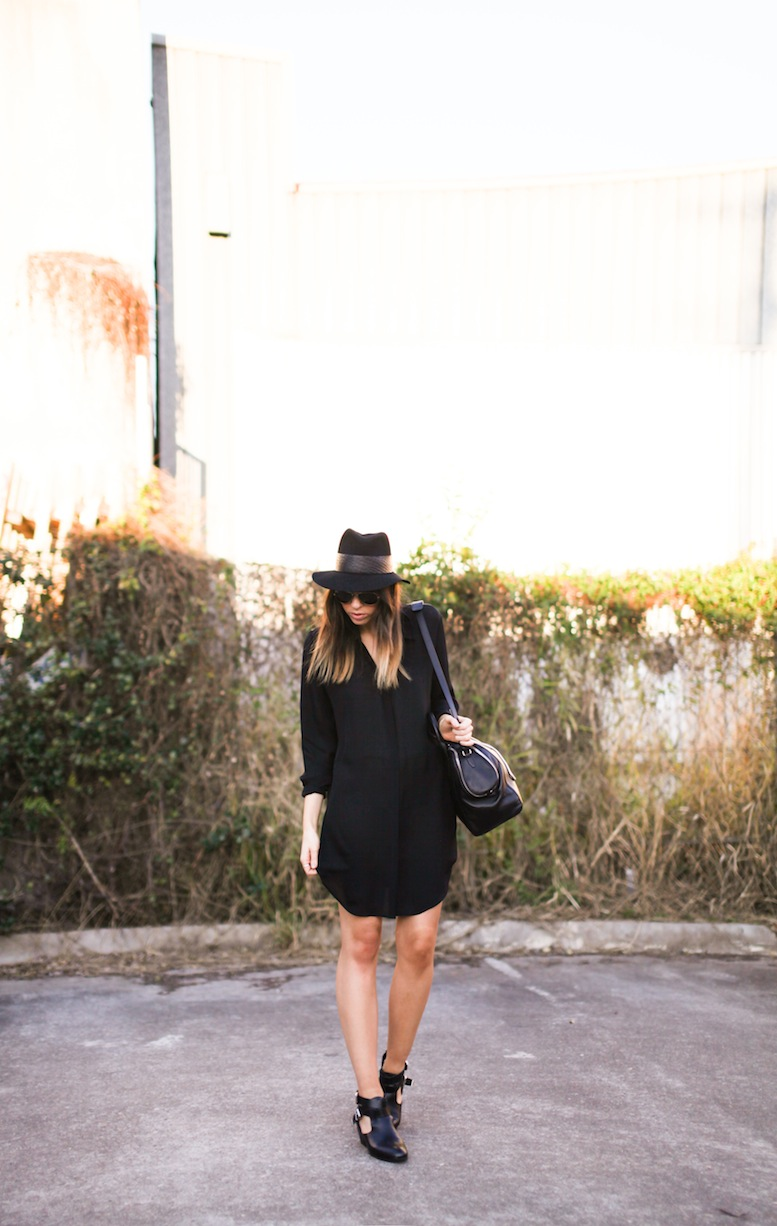 Modern Legacy fashion style blog Australia Saba shirt dress Janessa Leone fedora cut out boots outfit 1 (1 of 2)