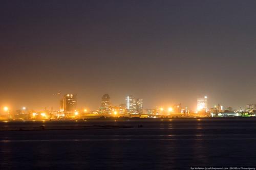 africa night cityscape congo kinshasa brazzaville republicofthecongo