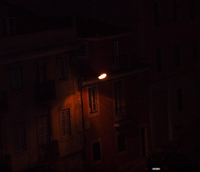 À noite, da minha janela