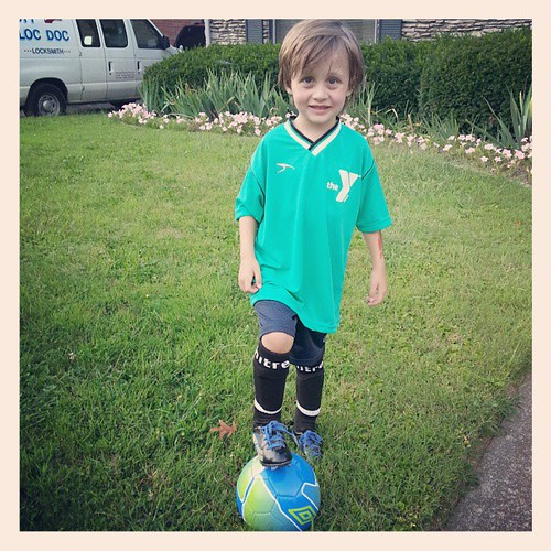 First day of soccer!